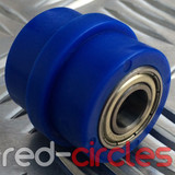 10mm RIDGED PIT BIKE CHAIN ROLLER - BLUE