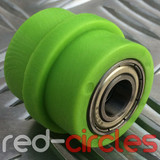 10mm RIDGED PIT BIKE CHAIN ROLLER - GREEN