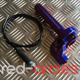 RCR PITBIKE QUICK ACTION THROTTLE TWIST - BLUE