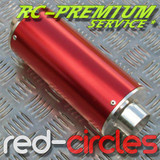 PITBIKE BIG BORE EXHAUST MUFFLER - RED