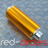 PITBIKE BIG BORE EXHAUST MUFFLER - GOLD