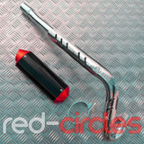 CRF70 SIZE PITBIKE CNC EXHAUST SYSTEM - RED