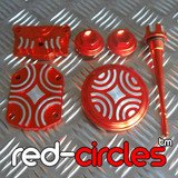 PITBIKE CNC DRESS UP KIT - RED (SCREW IN TAPPET COVERS)