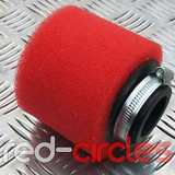 42mm STRAIGHT PITBIKE / ATV FOAM AIR FILTER - RED