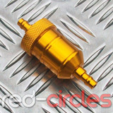 INLINE FUEL FILTER - GOLD