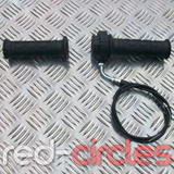 PITBIKE / ATV THROTTLE TWIST, GRIPS AND CABLE SET