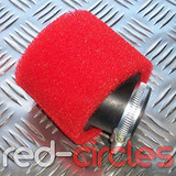42mm ANGLED PITBIKE / ATV FOAM FILTER - RED