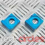 15mm BLOCK PITBIKE CHAIN TENSIONERS - BLUE