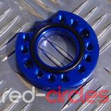 CNC PITBIKE / ATV CARBURETTOR SPINNER PLATE - BLUE