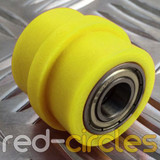 10mm RIDGED PIT BIKE CHAIN ROLLER - YELLOW