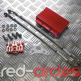 CNC PITBIKE OIL COOLER & HOSES - RED