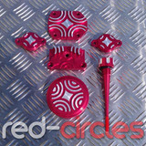 PITBIKE CNC DRESS UP KIT - RED (2 BOLT TAPPET COVERS)