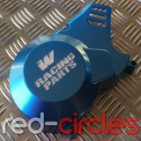 WHOOP (W) RACING PITBIKE STATOR COVER - BLUE