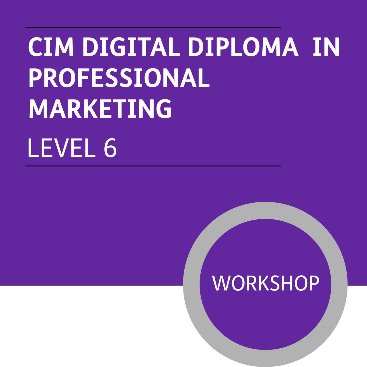 cim digital diploma in professional marketing level premium  cim digital diploma in professional marketing level 6 premium workshops