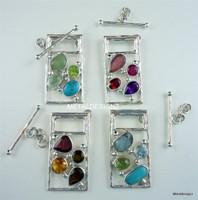 Rectangle Gemstone Mosaic Toggle