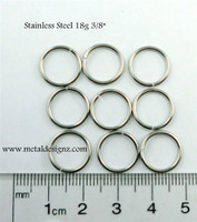 "Stainless Steel Jump Rings 18g 3/8"""