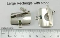 Large Rectangle with Gemstone