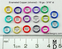 "Silvered Enameled Copper 18 Gauge 3/16"" id."