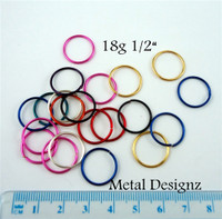 "Silvered Enameled Copper 18 Gauge 1/2"" id"