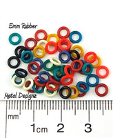 Rubber Jump Rings - 5mm