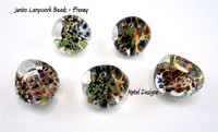 Lamp Work Tear Drop Beads - JUMBO FOCAL BEADS