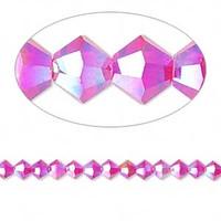 Swarovski crystal, light Siam AB2X, 4mm  bicone