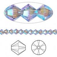 Swarovski crystal, Provence lavender AB2X, 4mm  bicone