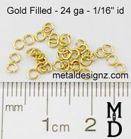 Gold Fill 24 Gauge 1/16 id.