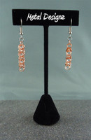 Copper Shaggy Loop Circles Earrings