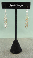 Antique Silver Shaggy Loop Squares Earrings