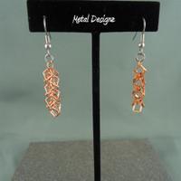 Copper Shaggy Loop Squares Earrings