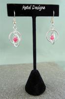 Hoops Earrings with Swarovski Crystal Drops