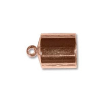 BARREL END CAP 8MM COPPER PLATE