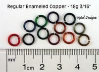 "Regular Enamelled Copper 18 Gauge 3/16"" id."