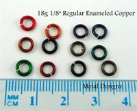 "Regular Enameled Copper 18 Gauge 1/8"" id."