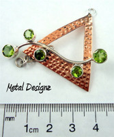 Copper Wave Bar Toggle - Triangle
