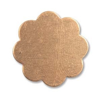 COPPER 18MM FLOWER 8 PETALS 24 GAUGE