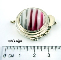 Zebra Stripe Sterling Box Clasp - Studio Indah