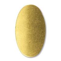 Brass Sheet Oval- .5 X.75 IN