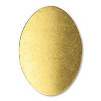 Brass Sheet Oval- .75 X1.1 IN
