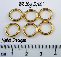 "Jewelers Brass Jump Rings 16 Gauge 5/16"" id."