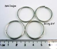 """Bright Aluminum Jump Rings 14 Gauge 3/4"""" id."""