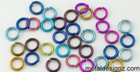 "Anodized Niobium Jump Rings 20 Gauge 1/8"" id."