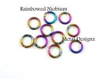 """Anodized Niobium 18 Gauge 9/64"""" id."""