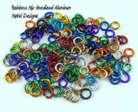 """Anodized Aluminum Jump Rings 20 Gauge 1/8"""""""