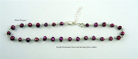 Sterling Silver & Freshwater Pearl Anklet