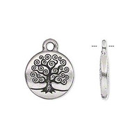 Pewter Tree of Life Charm 15.5mm