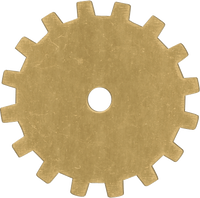 19mm Brass gear blanks