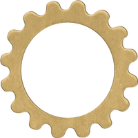 16mm Brass gear Link blanks