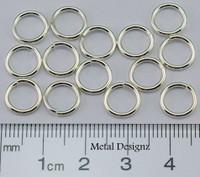 """Sterling Silver Jump Rings 18 Gauge 15/64"""" id."""